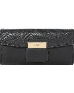Kebella Fold-over Reptile-effect Purse