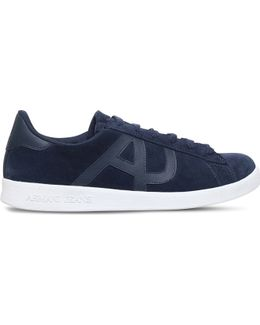 Logo-detail Suede Trainers
