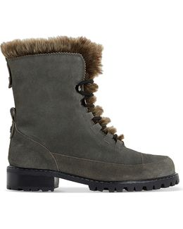 Raleigh Faux-fur Lined Suede Boots