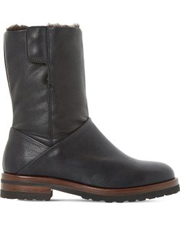 Rayner Shearling-lined Leather Boots