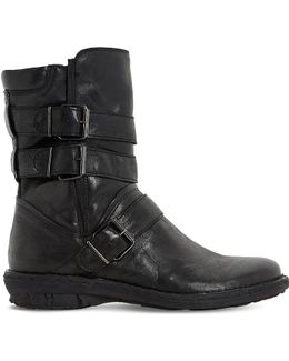 Rania Leather Biker Boots