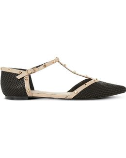 Heti Leather Pointed-toe Flats
