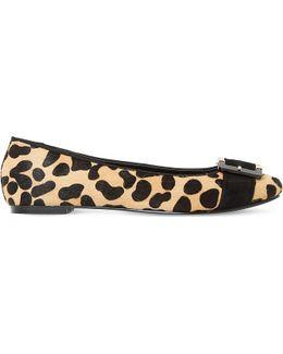 Heston Leopard-print Ballet Flats