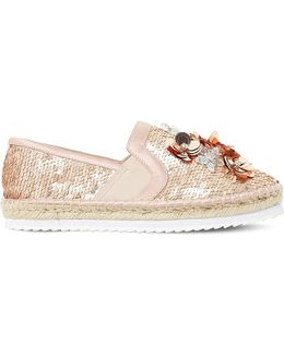 Glorious Sequin Embellished Espadrilles