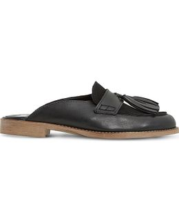 Gee Leather Backless Loafers