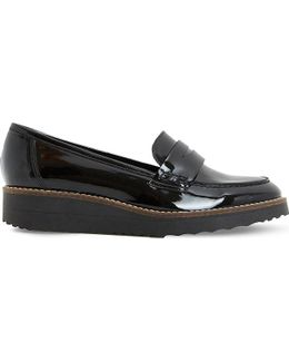 Graphic Patent Flatform Loafers