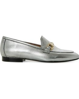 Guru Metallic-leather Loafers