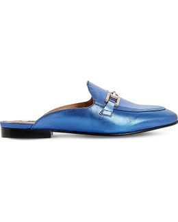 Gole Backless Leather Loafers