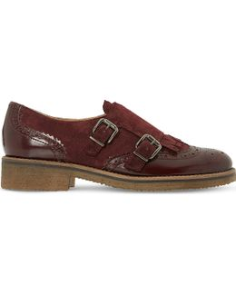 Garland Leather Buckled Monk Shoes