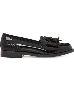 Leather Tassel Fringe Loafers