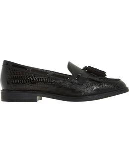 Goodness Fringe Tassel Leather Loafers
