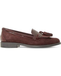 Goodness Suede And Patent Leather Loafers
