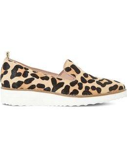 Guise Leopard Print Flatform Loafers