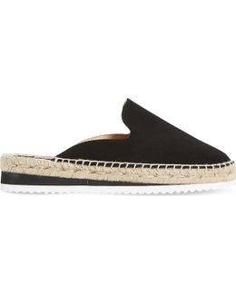 Geniee Suede Backless Espadrilles