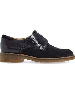 Faithe Suede And Leather Oxford Shoes