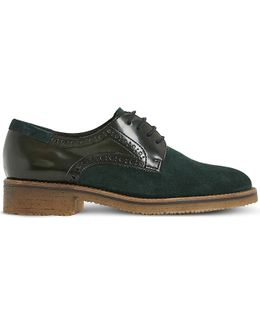 Faithe Leather And Suede Brogues