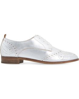 Foster Metallic Leather Brogues