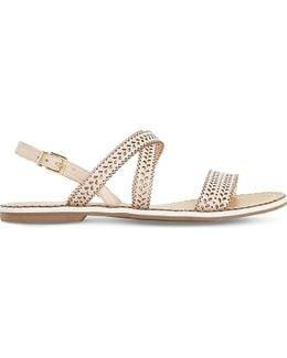 Lilo Laser Cut Leather Sandals