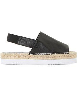 Lucindie Leather Espadrille Sandals