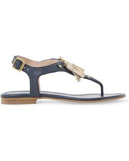 Laviniya Tasselled Leather Sandals