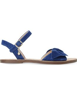 Lettie Suede Bow Sandals