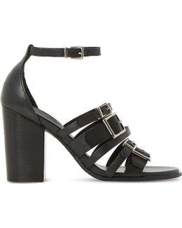 Jairo Multi Strap Leather Heel Sandals