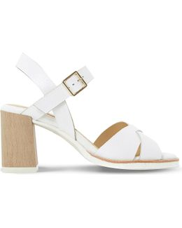 Judo Leather Heeled Sandals