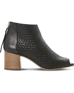 Idoll Leather Heeled Ankle Boots