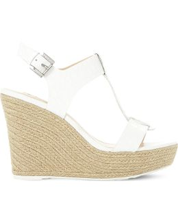 Kelby Reptile-effect Leather Wedges