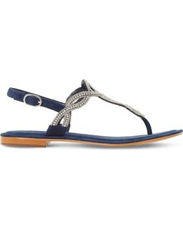 Nea Embellished Suede Sandals