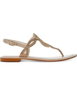 Nea Embellished Leather Sandals