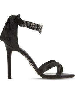 Morgen Satin Heeled Sandals