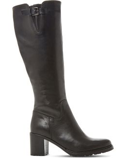 Todd Cleated-sole Leather Boots