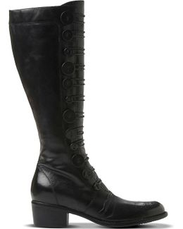 Pixie D Leather Knee-high Boots