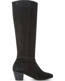 Tarry Knee-high Stretch-suede Boots