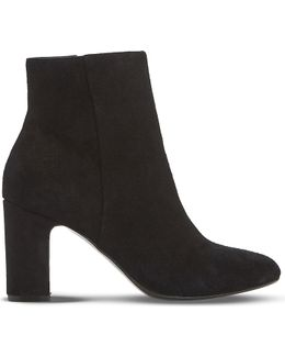 Opel Suede Heeled Ankle Boots