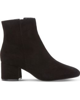 Packham Suede Heeled Ankle Boots