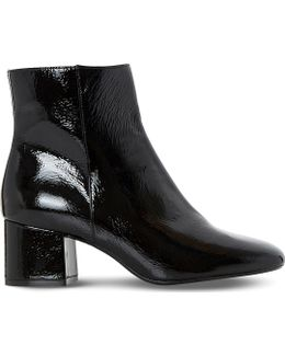Packham Patent-Leather Ankle Boots