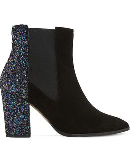 Order Glitter And Suede Chelsea Boots