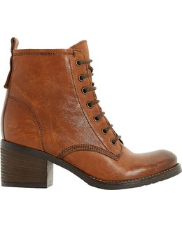 Patsie Lined Leather Ankle Boots