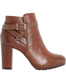 Puggy Leather Ankle Boots