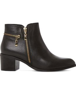 Pemberley Leather Ankle Boots