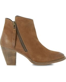Pollie Leather Ankle Boots