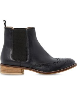 Quentin Leather Brogue Chelsea Boots