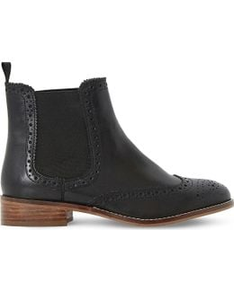 Brogue Leather Chelsea Boots