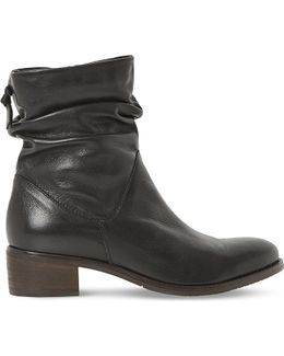 Pager Leather Ankle Boots