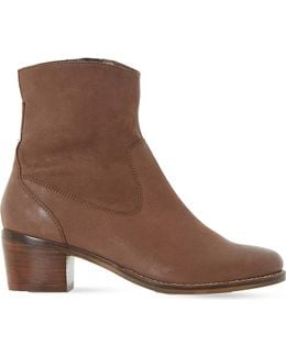 Pocket Leather Ankle Boots