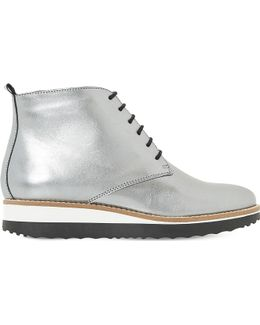 Padmore Metallic-Leather Ankle Boots