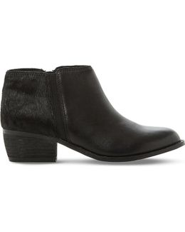 Penelope Leather Ankle Boots