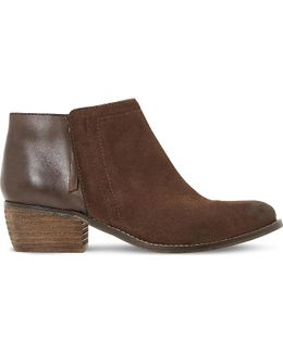 Penela Leather And Suede Ankle Boots